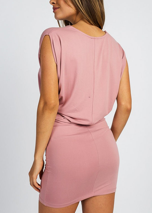 Mauve Sleeveless Mini Dress