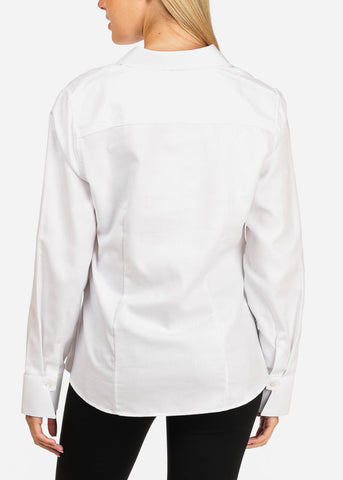 Image of White Button Up Shirt