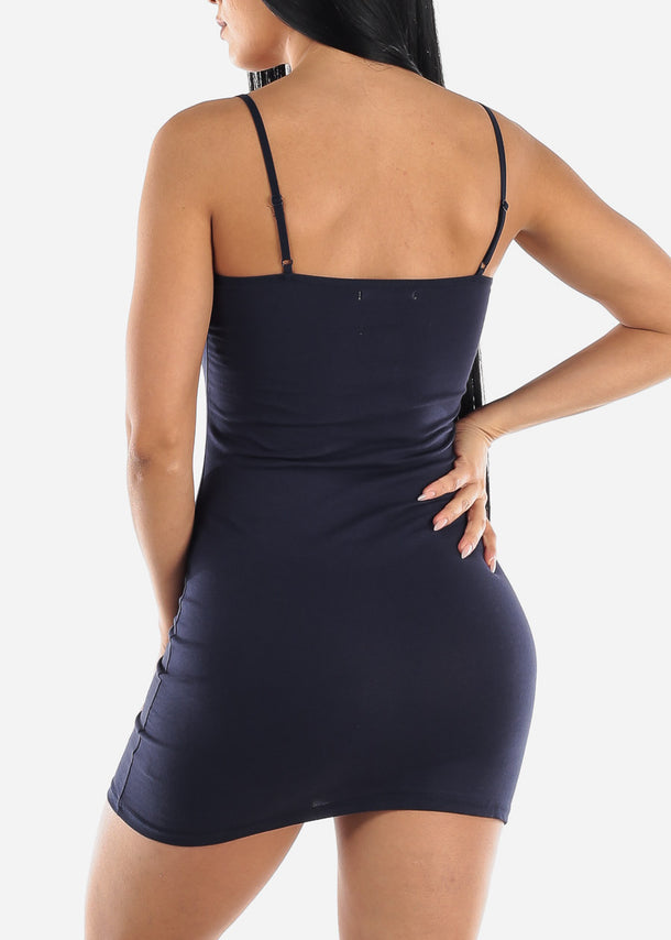 Spaghetti Strap Navy Cami Dress