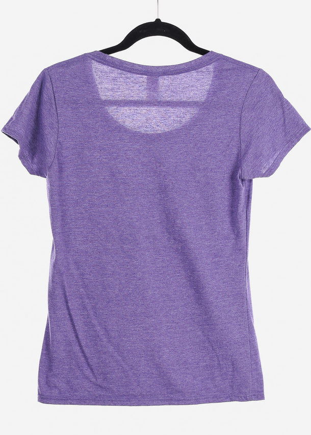 Heather Purple Graphic Top