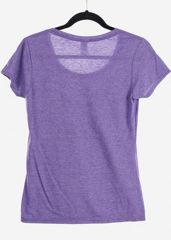 "Heather Purple Graphic Top ""Good Vibes"""