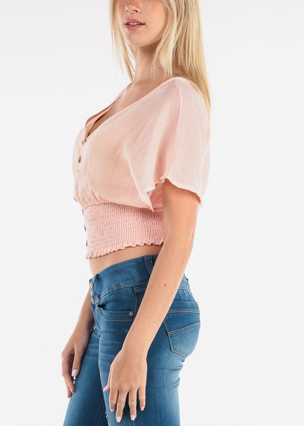 Cute Pink Crop Top