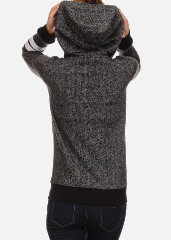 Image of Heather Charcoal Zip Up Hoodie