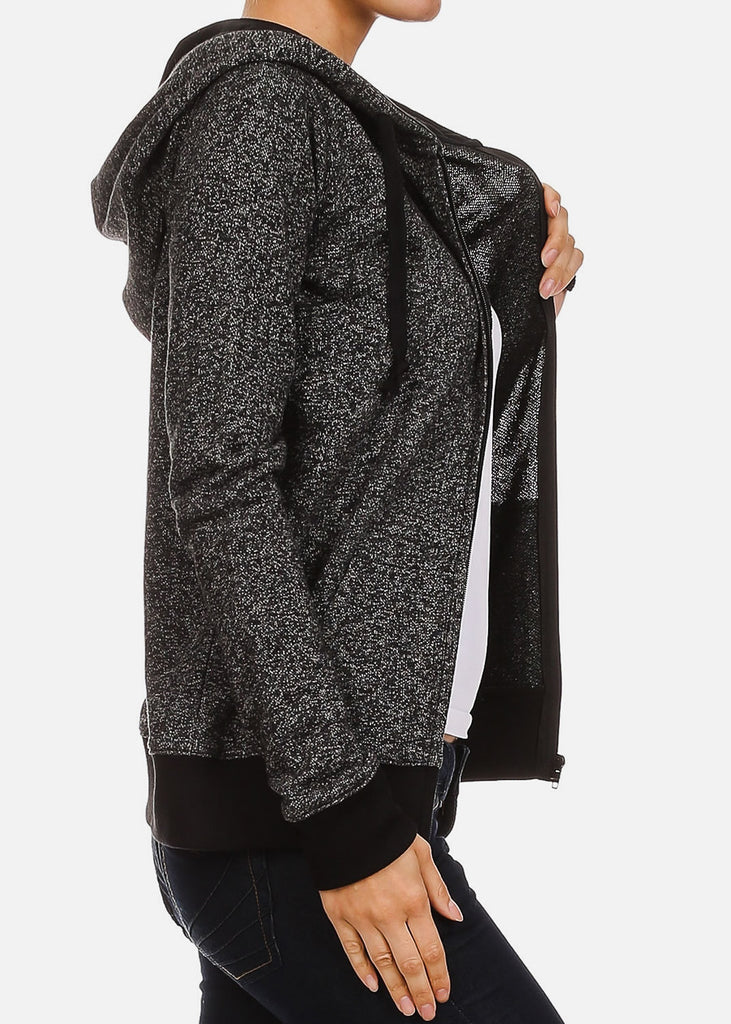 Heather Charcoal Zip Up Hoodie