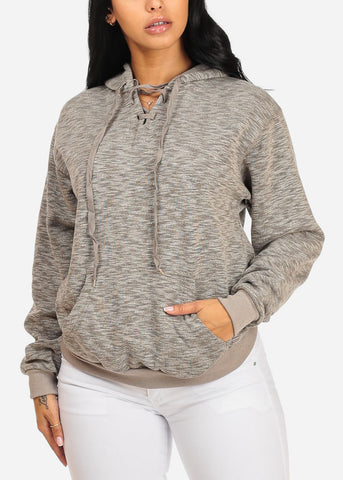 Discount Cute Grey Sweater W Hood
