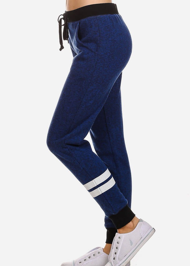 Drawstring Waist Royal Jogger Pants