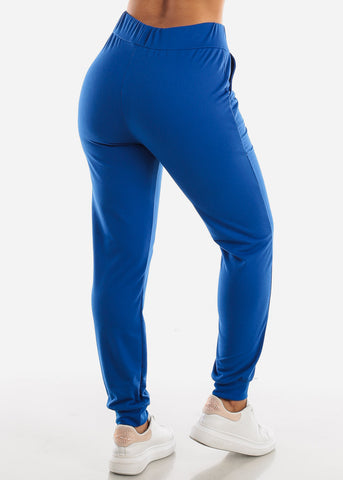 High Waisted Royal Blue Jogger Pants