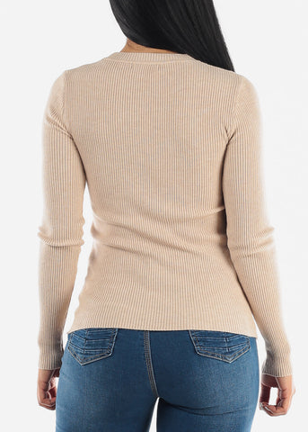 Cozy Classic Ribbed Stretchy Sweater