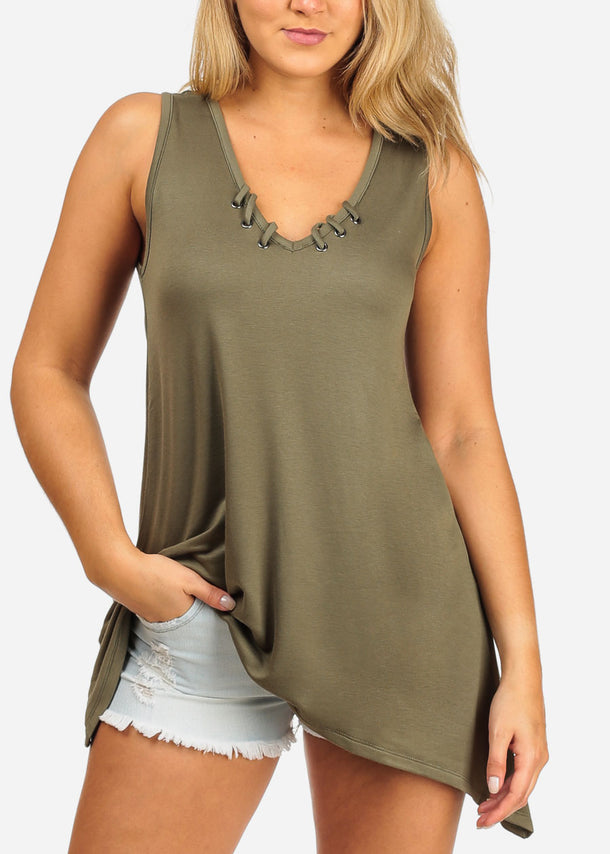 Casual Olive Tunic