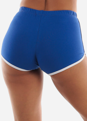 Image of Royal Blue Dolphin Hem Shorts