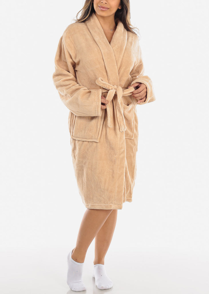 Beige Fleece Robe