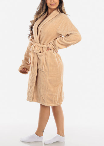 Image of Beige Fleece Robe