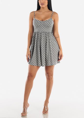 Casual Polka Dot Mini Dress