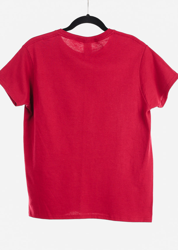 Red Graphic Top