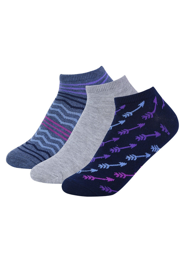 Assorted Printed Ankle Socks (12 PACK)
