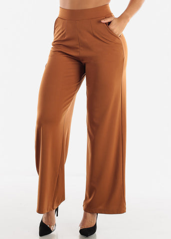 Image of Brown Palazzo Pants