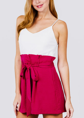 Hot Pink Sleeveless Romper