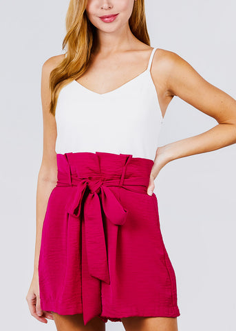 Image of Hot Pink Sleeveless Romper
