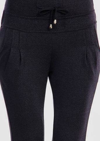 Charcoal Black Drawstring Jogger Sweatpants