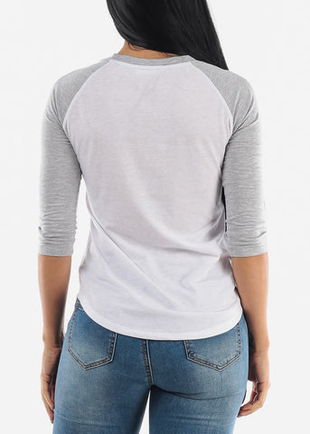 Image of White Raglan Top