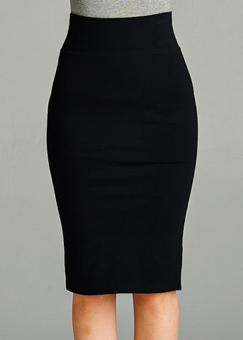 Image of Black Pencil Skirt