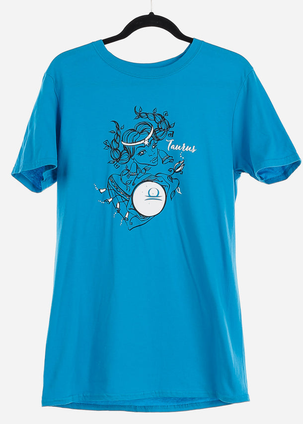 "Blue Graphic T-Shirt ""Taurus"""