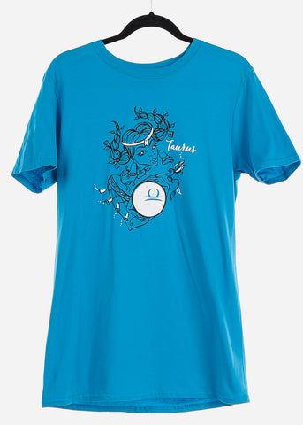 "Image of Blue Graphic T-Shirt ""Taurus"""