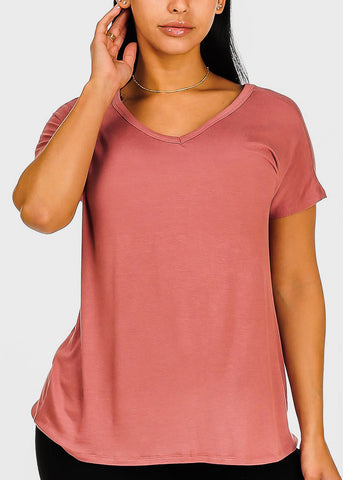 Criss Cross Back Rose Top