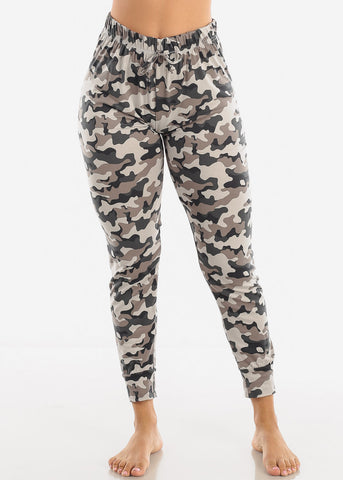 High Waisted Camouflage Pajama Pants