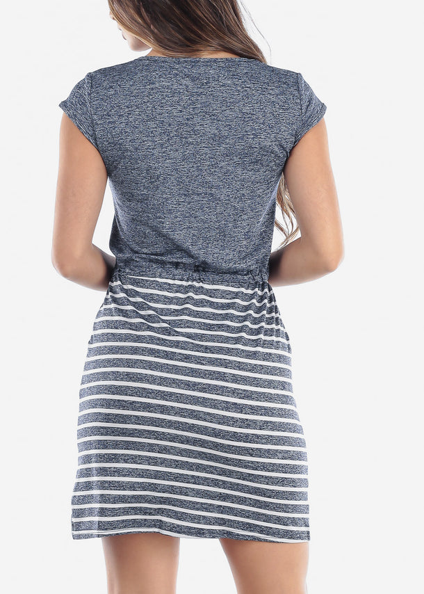 Stripe Navy Dress