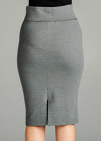 Image of Grey Pencil Skirt