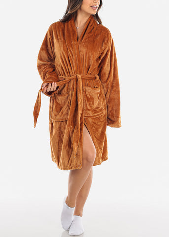 Camel Fleece Robe