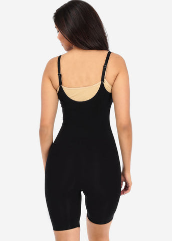 Image of Black Full Body Shapewear Thigh Control Bodysuit