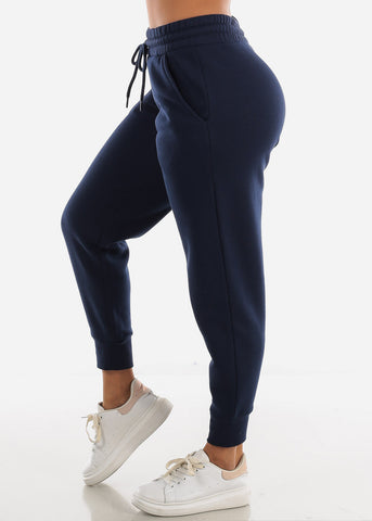 Fleece Navy Jogger Sweatpants
