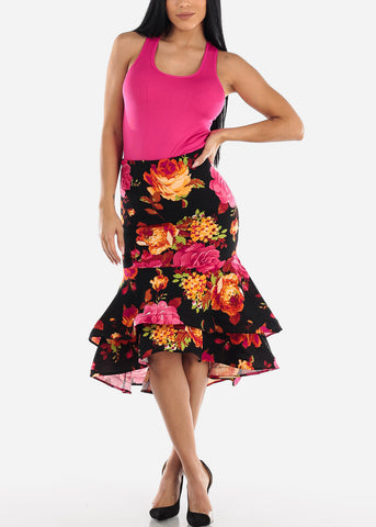 Image of Floral Multi Way Dress Or Skirt