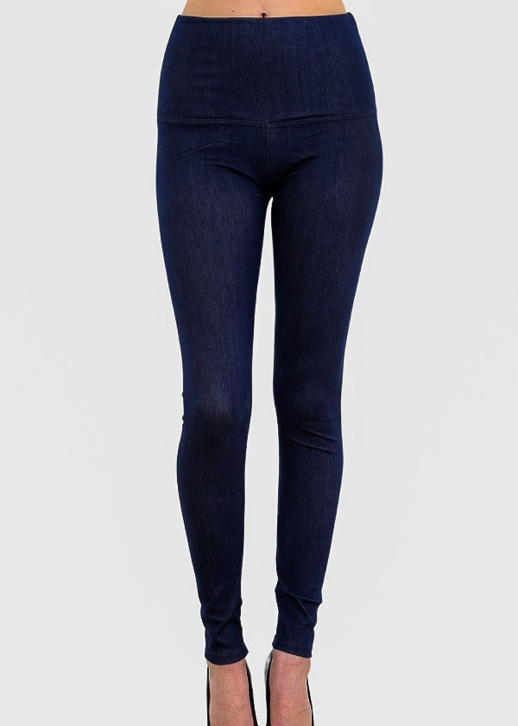 Pull On Denim Leggings