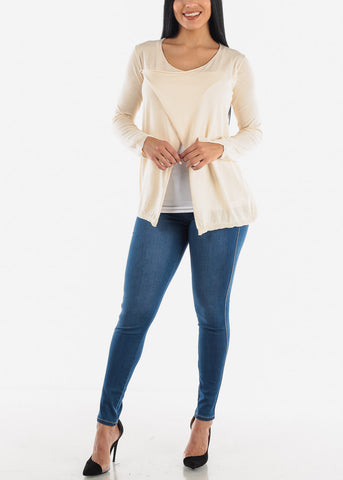 2 Way Beige Cardigan