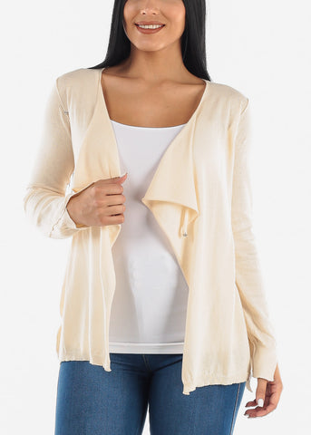 Image of 2 Way Beige Cardigan
