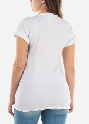"White Graphic Top ""Caliente"""