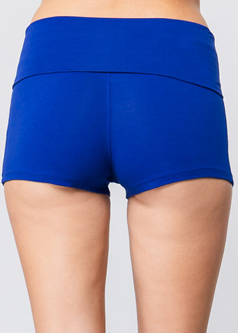 Royal Blue High Waist Shorts