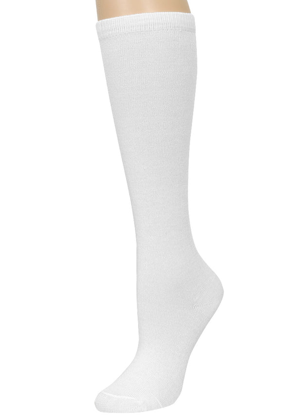 White Knee High Socks (12 PACK)