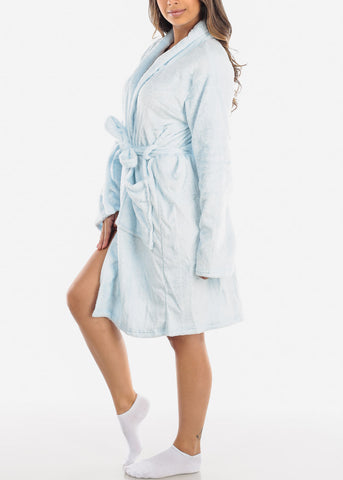 Image of Light Blue Fleece Robe