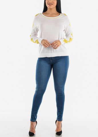 Image of Lace Accent Light Sweater