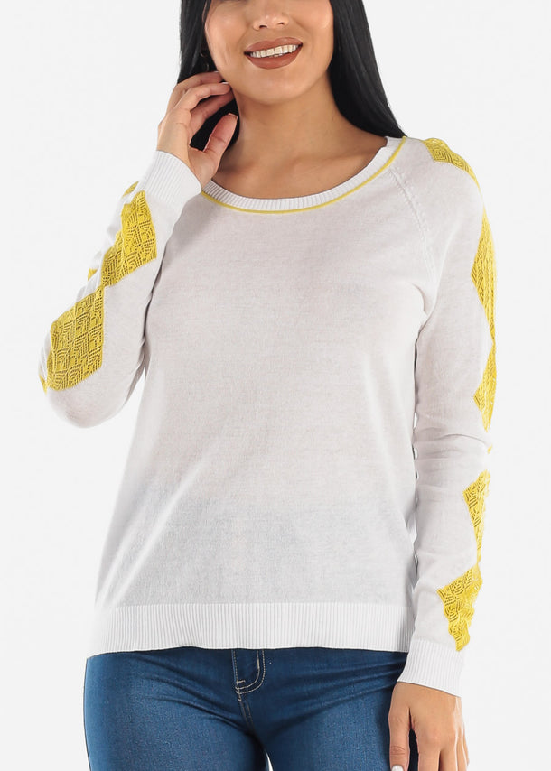 Lace Accent Light Sweater