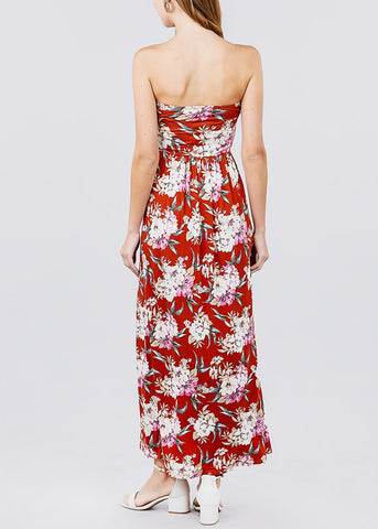 Floral Rust Long Dress