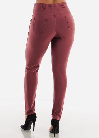 Image of Mauve Skinny Pants