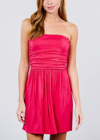 Image of Hot Pink Strapless Dress