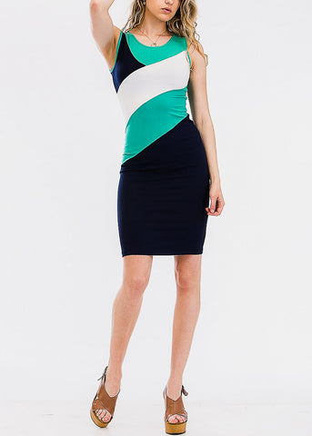 Color Block Sleeveless Arcadia Bodycon Dress