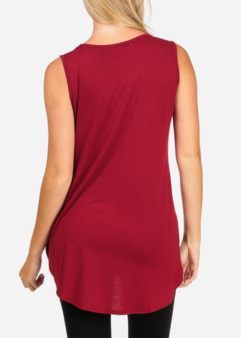 Image of Rhinestone Red Tunic Top