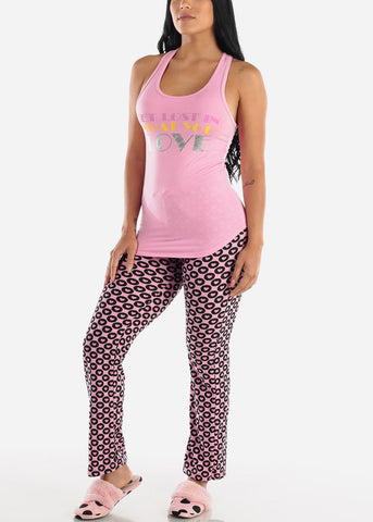 "Image of Pink Cami & Pants ""Get Lost"" (2 PCE PJ SET)"